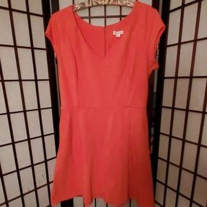 Merona Coral Skater Dress with Pockets! Size L